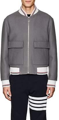 Thom Browne Men's Reversible Wool Bomber Jacket - Gray