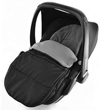evo Car Seat Footmuff/Cosy Toes Compatible with Kiddy Lunafix New born Car seat Dolphin Grey