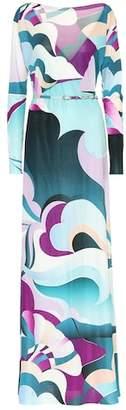 Emilio Pucci Printed silk maxi dress