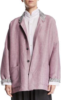 eskandar Lightweight Linen-Wool Jacket