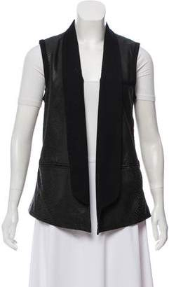 Yigal Azrouel Printed Leather Vest