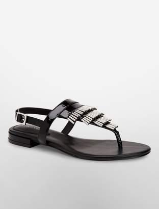 Calvin Klein evonie patent leather sandal