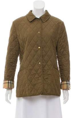 Burberry Point-Collar Casual Jacket