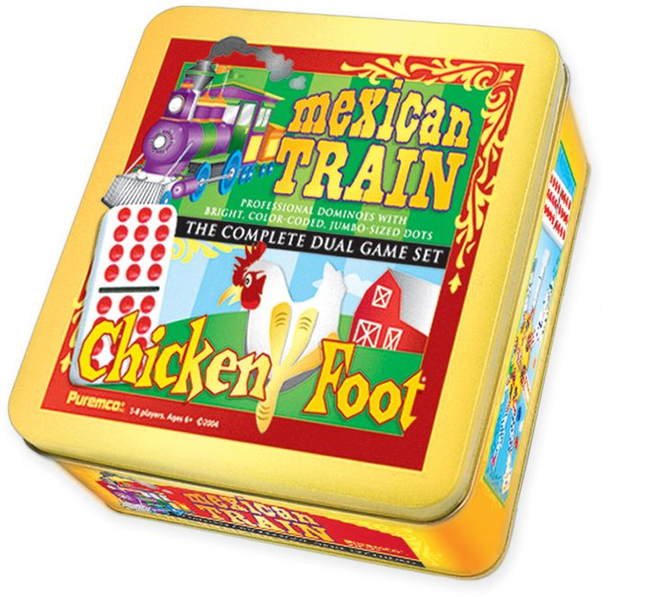 Mexican Train & Chickenfoot Dominoes Dual Game Set