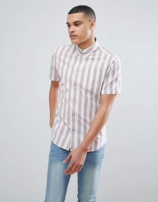 ONLY & SONS Short Sleeve Shirt With Vertical Stripe