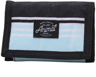 Animal Mens Exploited Polyester 3 Leaf Wallet Clearwater Blue