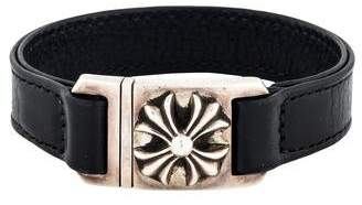 Chrome Hearts Maltese Cross Leather Bracelet