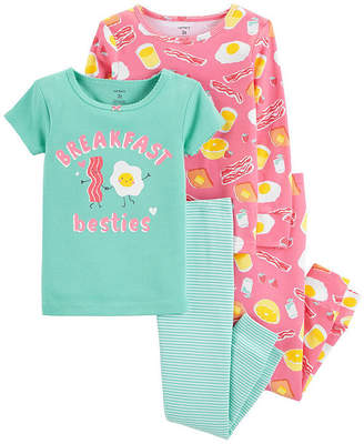 Carter's 4pc Breakfast Besties Pajama Set - Baby Girl
