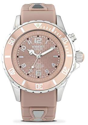 """KYBOE! """"Power"""" Collection Quartz Stainless Steel and Silicone Casual Watch"""