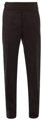 Dolce & Gabbana Detachable Cummerbund Virgin Wool Blend Trousers - Mens - Black