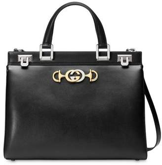Gucci Zumi smooth leather medium top handle bag