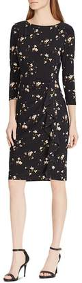 Ralph Lauren Ruffled Floral-Jersey Dress