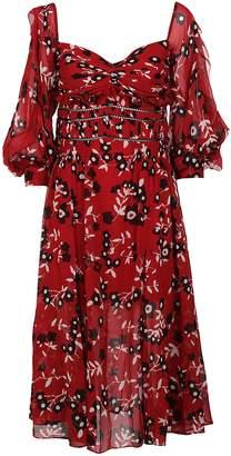 Self-Portrait Floral Off-shoulder Dress