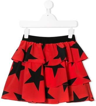 MSGM Kids layered star printed skirt