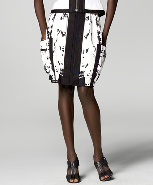Narciso Rodriguez Graffiti Cotton Skirt
