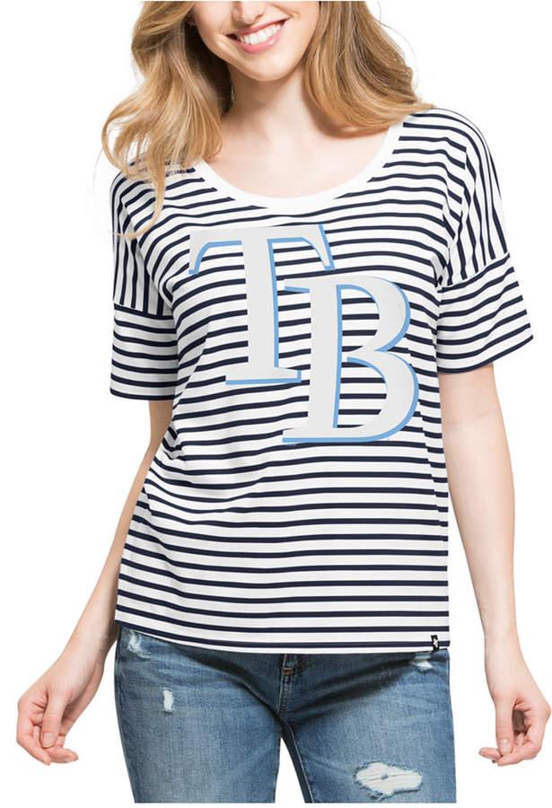 '47 Brand Women's Tampa Bay Rays Coed Stripe T-Shirt