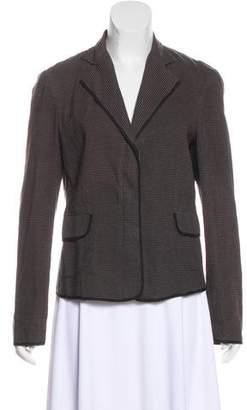 Hache Stripe Linen-Blend Blazer