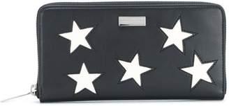 Stella McCartney star patch zip around wallet