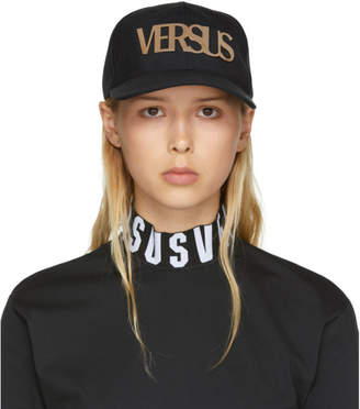 Versus Black Metallic Logo Cap