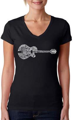 LOS ANGELES POP ART Los Angeles Pop Art Country Guitar Graphic T-Shirt