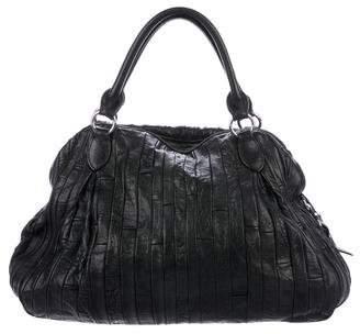 Miu Miu Leather Patchwork Tote