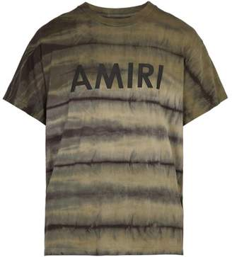 Amiri Tie Dye Cotton T Shirt - Mens - Green
