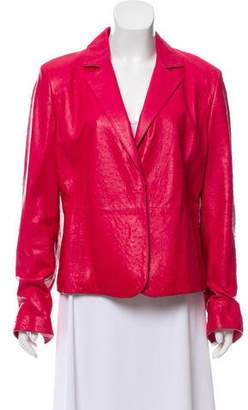 Max Mara Textured Leather Blazer