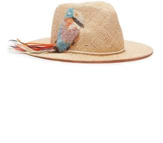 Eugenia Kim 'Courtney' bird embellished straw fedora hat