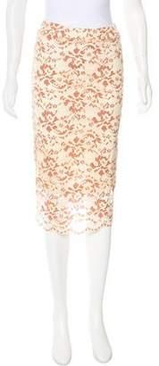 Ganni Lace Midi Skirt