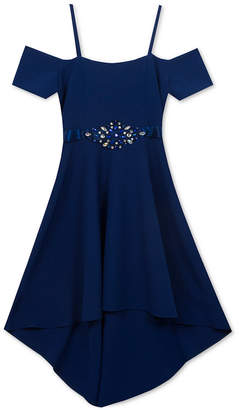 Rare Editions Big Girls Off-The-Shoulder Party Dress