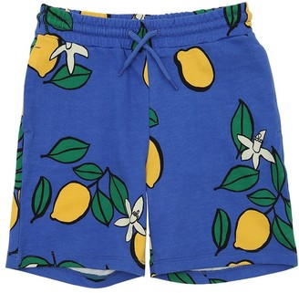 Mini Rodini Lemon Organic Cotton Blend Sweat Shorts