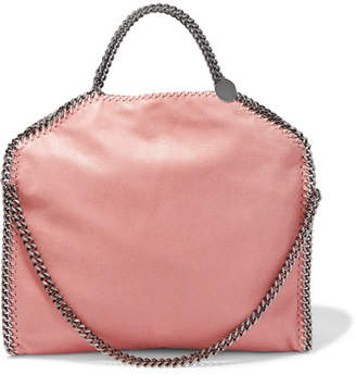 Stella McCartney The Falabella Small Faux Brushed-leather Shoulder Bag - Blush