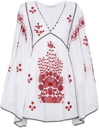 DAY Birger et Mikkelsen Vita Kin White Peacock Linen Mini Dress