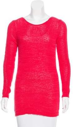Rachel Zoe Scoop Neck Open-Knit Sweater