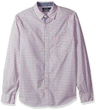 Nautica Men's Classic Fit Long Sleeve Plaid Button Down Shirt