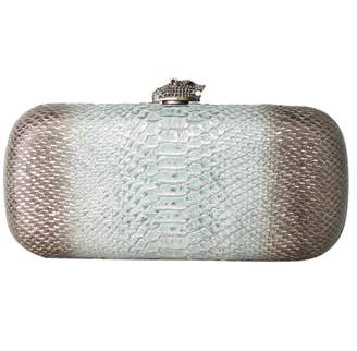 House Of Harlow Green Leather Clutch Bag