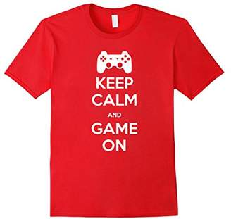 Keep Calm And Game On Novelty Gamer T Shirt Mens/Womens
