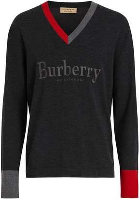 Burberry (バーバリー) - Burberry ロゴエンブロイダリーセーター