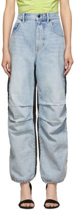 Alexander Wang Blue and Black Pack Mix Hybrid Jeans
