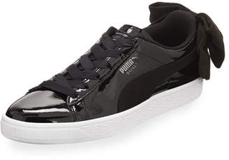 Puma Basket Bow Patent Sneakers