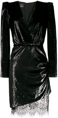Pinko metallic sheen mini dress