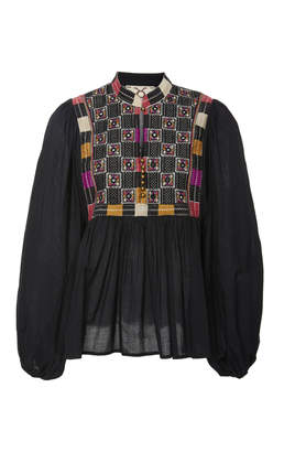 Figue Nora Cotton-Embroidered Top