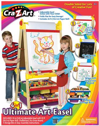 CRa Z Art Z-Art 4-in-1 Double Sided Ultimate Wood Standing Art Easel