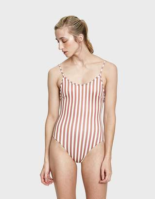Haight Thin Strap Piping Maillot