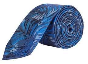 Burton Mens Cobalt Leaf Print Tie