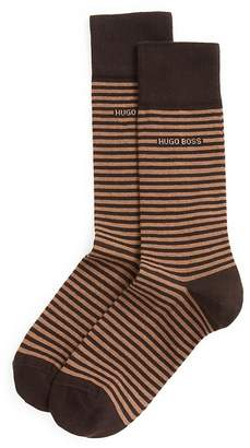 HUGO BOSS Combed Cotton Stripe Socks