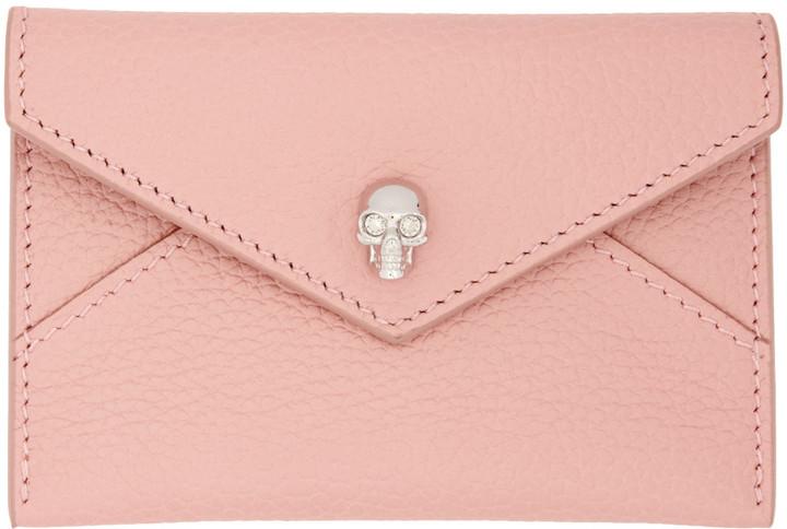Alexander McQueenAlexander McQueen Pink Skull Envelope Card Holder