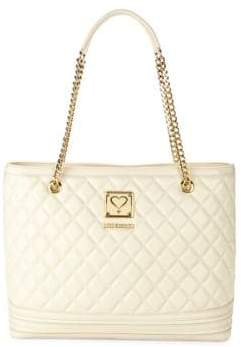 Love Moschino Quilted Top Zip Tote