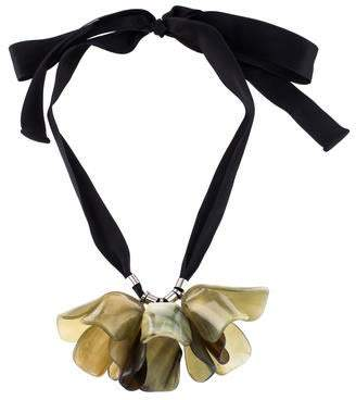Marni Floral Horn Necklace