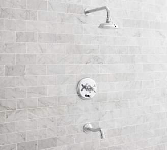 Pottery Barn Langford Pressure Balance Cross-Handle Bathtub & Shower Faucet Set